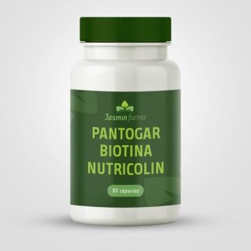 Pantogar + Biotina + Nutricolin - 60 cápsulas